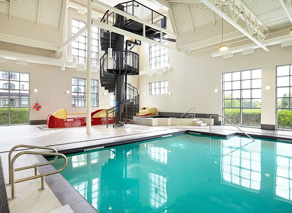 Indoor out door pool at Algonquin resortAndrews By the Sea, New Brunswick
