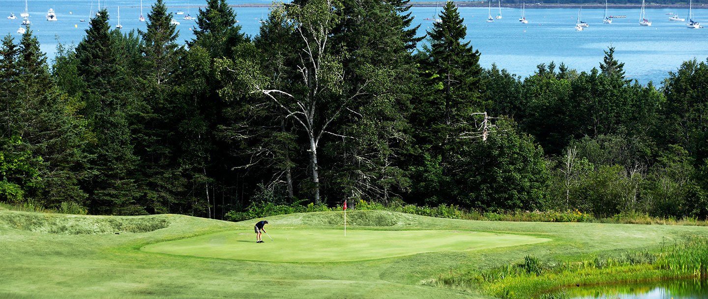 Golf hole-1 Algonquin resort, Andrews by the sea