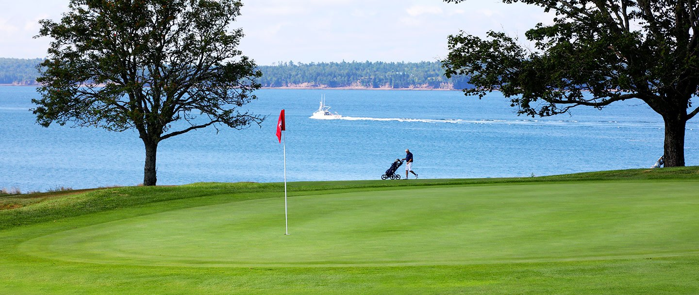 Golf hole-14 Algonquin resort, Andrews by the sea