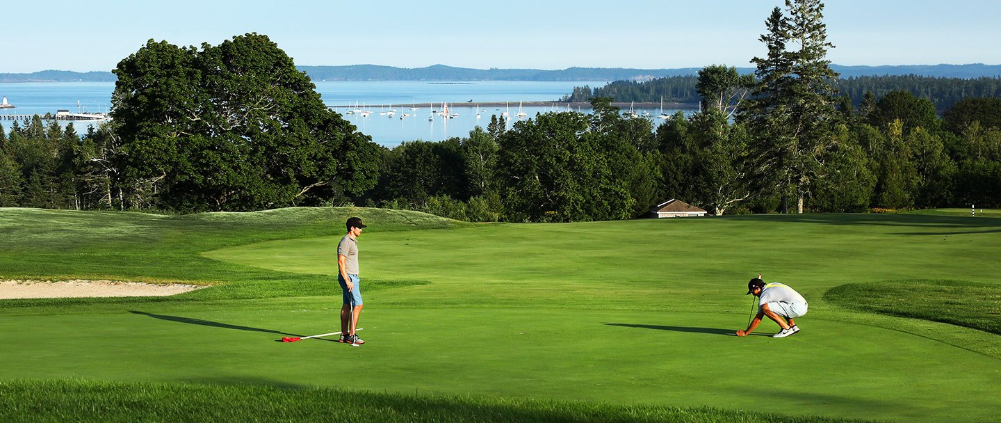 Golf hole-18 Algonquin resort, Andrews by the sea
