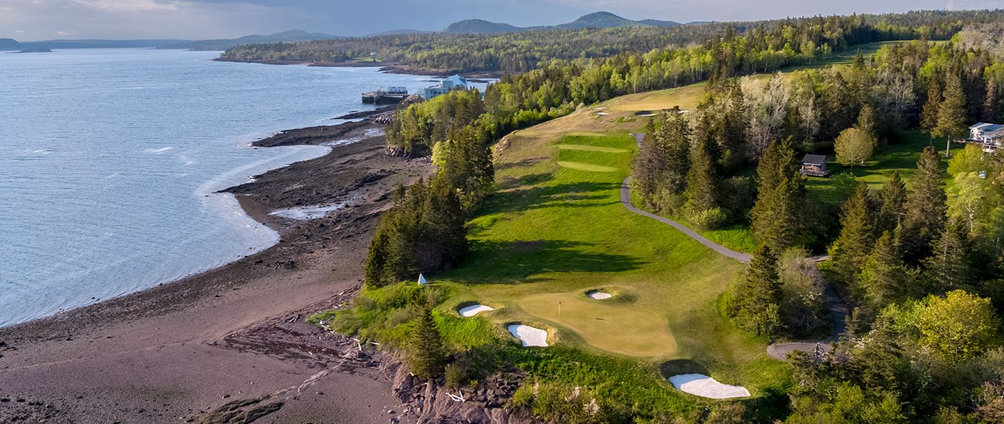 Golf course overview at Andrews By The Sea, New Brunswick
