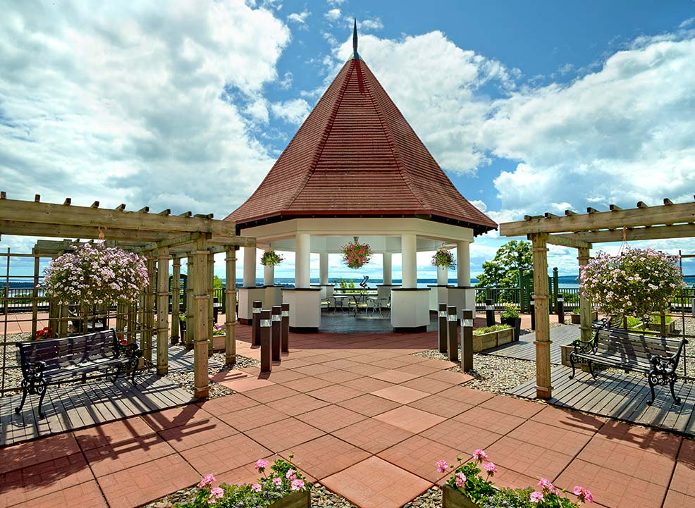 Rooftop Garden at Algonquin resort, Andrews By The Sea