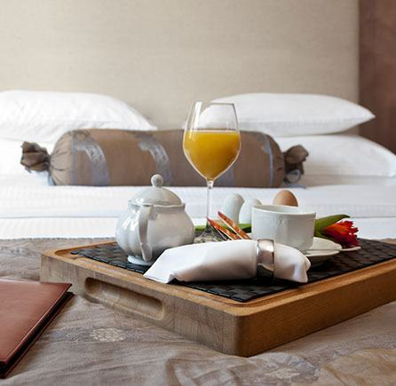 Breakfast in Bed at Algonquin resort, Andrews By The Sea