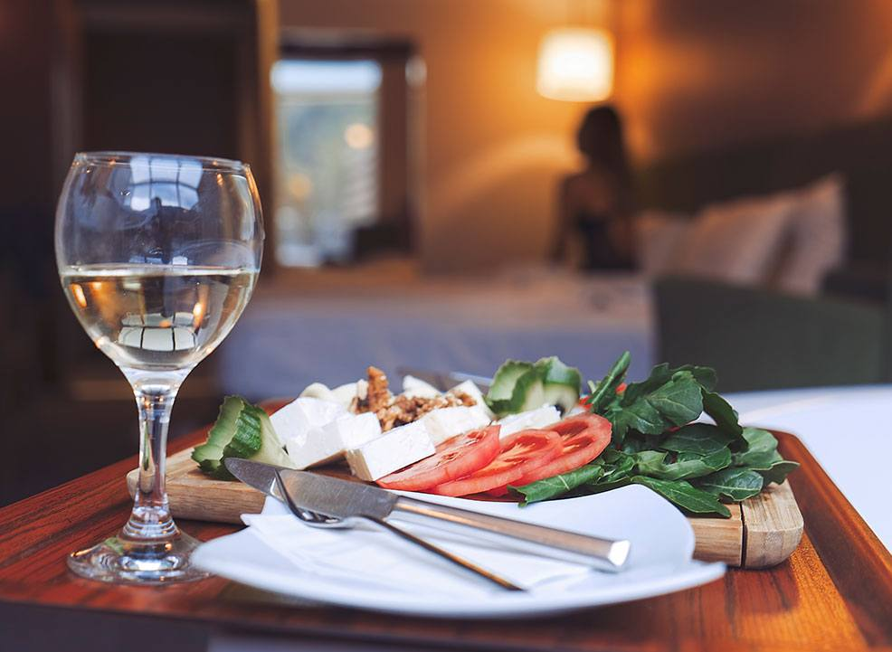 In-Room Dining at Andrews By the Sea, New Brunswick