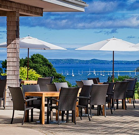 Dinner & Drinks at The Clubhouse at Algonquin resort, Andrews By The Sea